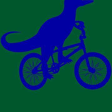 Dinosaur Riding Bike Art | Cute Bike-Dino Lovers Art Gift by NBRetail