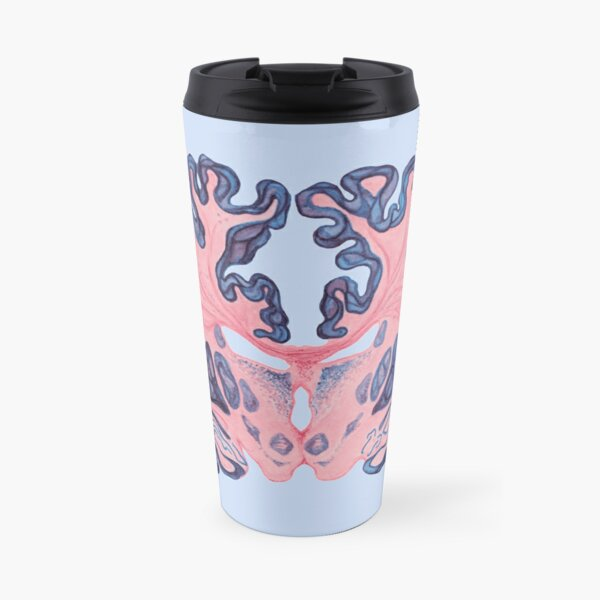 Gyri and Swirls of Human Brain Travel Mug