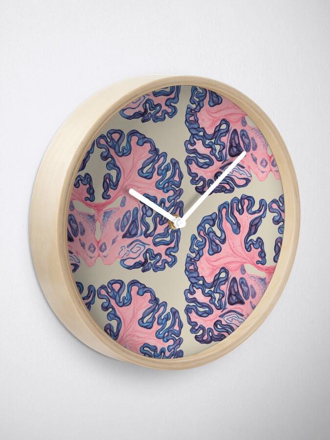 Vista alternativa de Reloj Gyri y remolinos del cerebro humano