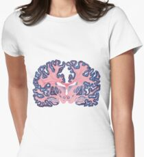 Gyri and Swirls of Human Brain Women's Fitted T-Shirt
