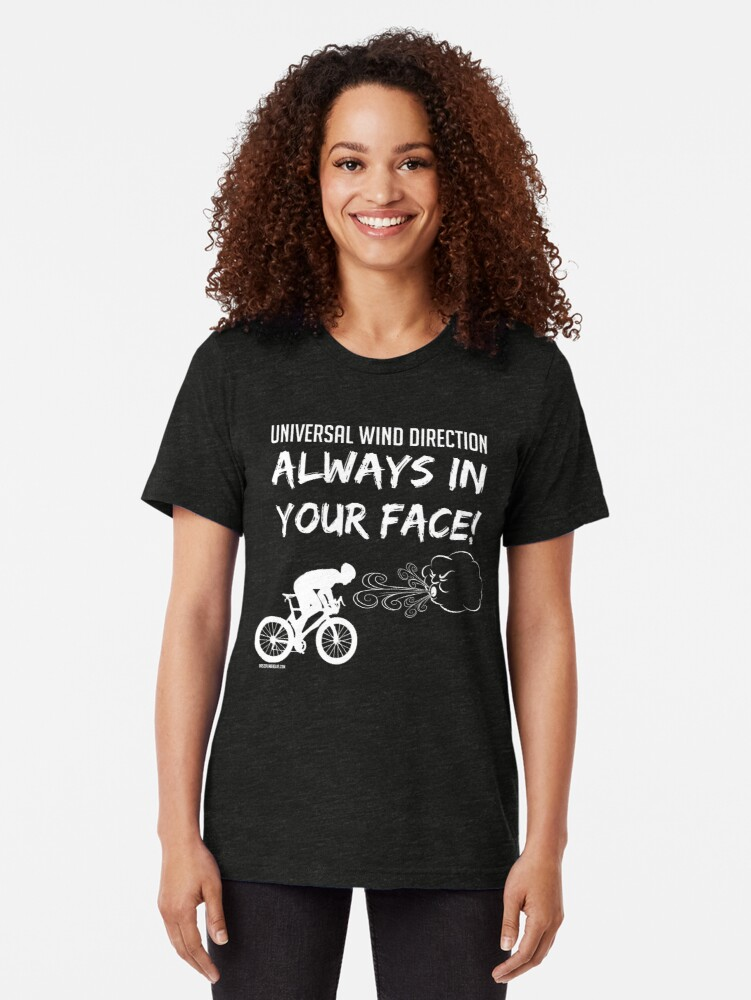 T-shirt chiné ''Universal wind direction : ALWAYS IN YOUR FACE (white)' : autre vue
