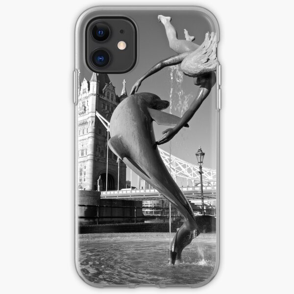 Girl With A Dolphin iPhone Soft Case