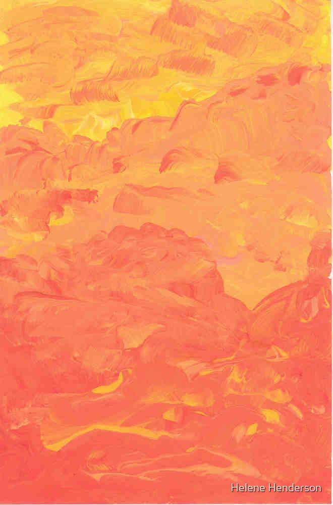 An Orangescape by Helene Henderson