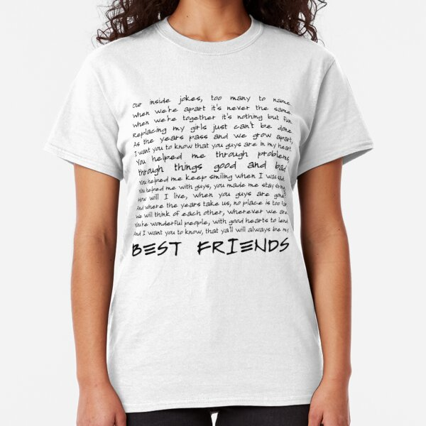 Best friends Camiseta clásica