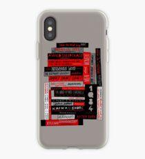 Murakami Book Stack Fanatic (Colour) iPhone Case