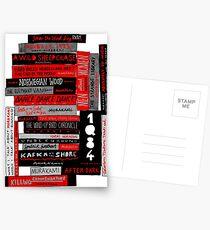 Murakami Buchstapel Fanatiker (Farbe) Postkarten