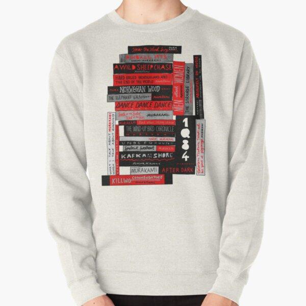 Murakami Book Stack Fanatic (Colour) Pullover Sweatshirt