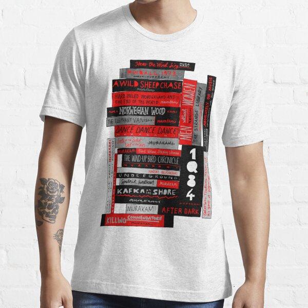 Murakami Book Stack Fanatic (Colour) Essential T-Shirt