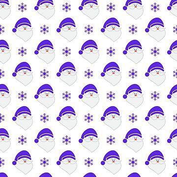 Christmas, New Year 2019 seamless pattern. by aquamarine-p