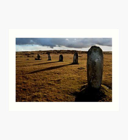 The Hurlers Stone Circle - Cornwall Art Print