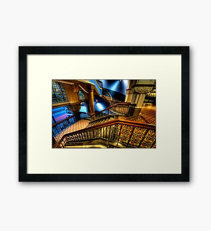 Over The Rails  (Colour)- QVB Building , Sydney - The HDR Experience Framed Print