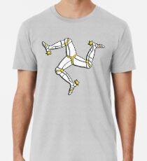 MANX FLAG, Isle of Man, MANX, LEGS, Brattagh Vannin, Triskelion, Ny tree cassyn Men's Premium T-Shirt