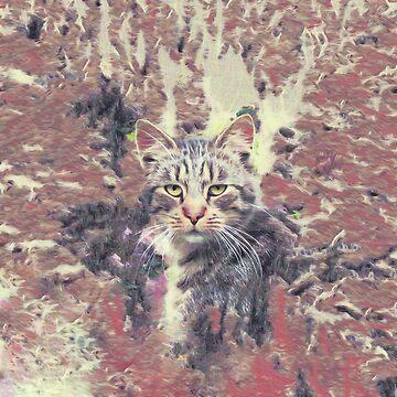 Abstract Autumn Cat by blackhalt