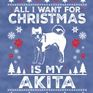 Merry Christmas Akita Dog Lover Gift by BBPDesigns