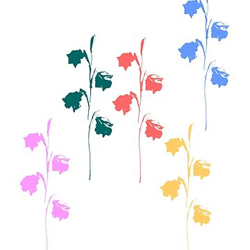 Colourful Floral Silhouette by STHogan