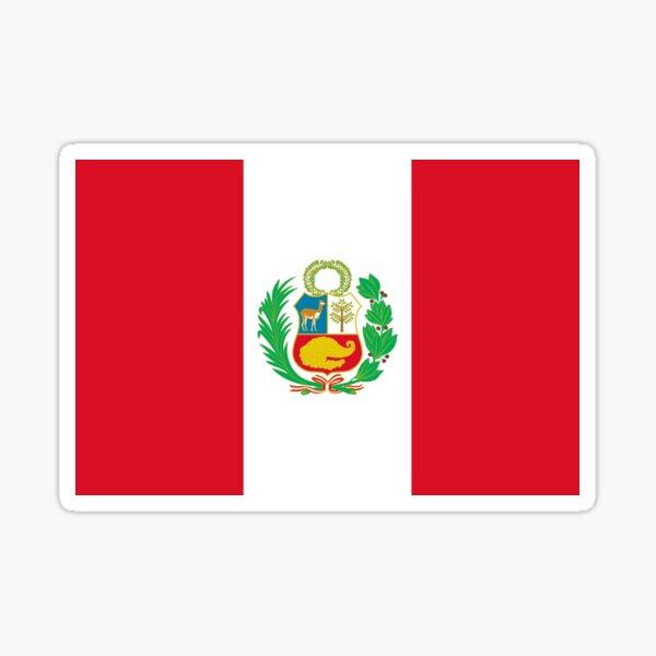 Bandera de peru Pegatina