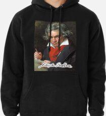 Ludwig van Beethoven, deutscher Komponist und Pianist. Portrait, auf Schwarz Hoodie