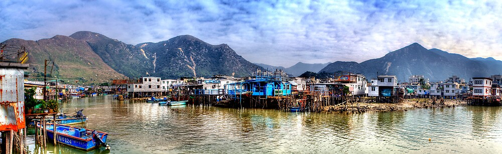 Tai O Fishing Village - Panoramic HDR by HKart