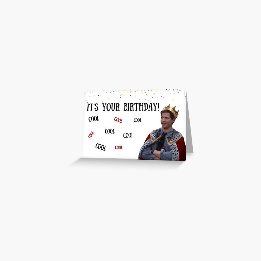 Brooklyn Nine Nine, tarjeta de cumpleaños Andy Samberg, Cool Cool Cool .. meme tarjetas de felicitación Tarjetas de felicitación
