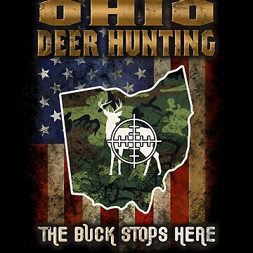Ohio Deer Hunter American Flag Deer Hunting Gifts American Hunting Apparel by vince58
