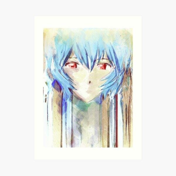 Ayanami Rei Evangelion Anime Tra Digital Painting  Art Print