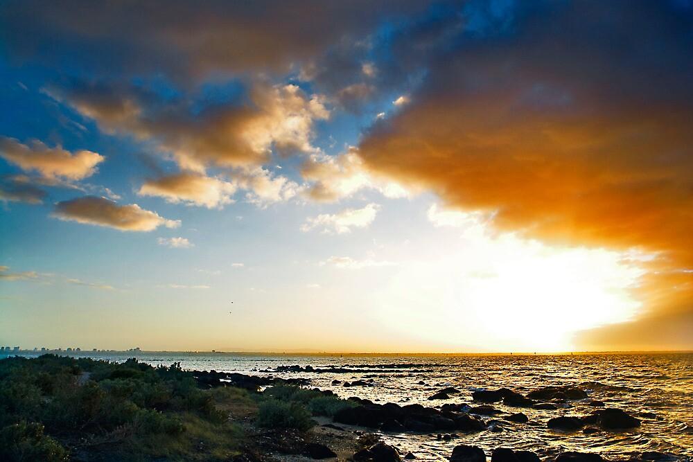 sunrise cloudburst williamstown by david de roach
