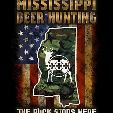 Mississippi Deer Hunter American Flag Deer Hunting Gifts American Hunting Apparel by vince58