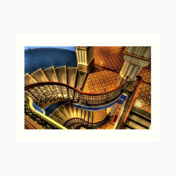 Vertigo - QVB Building (Colour)- The HDR Experience  Art Print