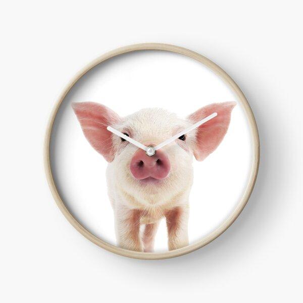 Portrait de bébé cochon Horloge