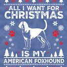 Merry Christmas American Foxgound Dog Lover Gift by BBPDesigns