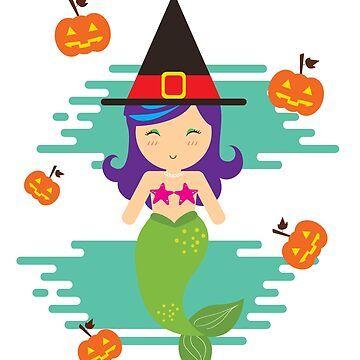 Cute Mermaid Witch Christmas Gift Or Birthday Present by epicshirts