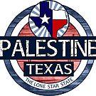 Palestine Texas rustic wood circle by artisticattitud