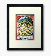 Vintage Travel Poster France - Grenoble  Framed Print