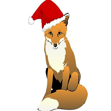 Cute Santa Christmas Fox Winter by Discofunkster