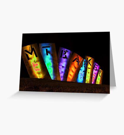Mount Barker Lights Up Greeting Card