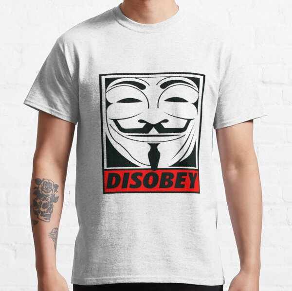 Disobey - V for Vendetta Classic T-Shirt