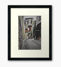 Italian Alley Framed Print