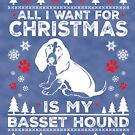 Merry Christmas Basset Hound Lover Gift by BBPDesigns