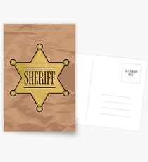 Wild West Sheriff's Badge Postcards