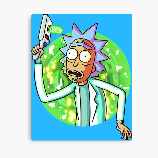 Rick and Morty design Canvas Print