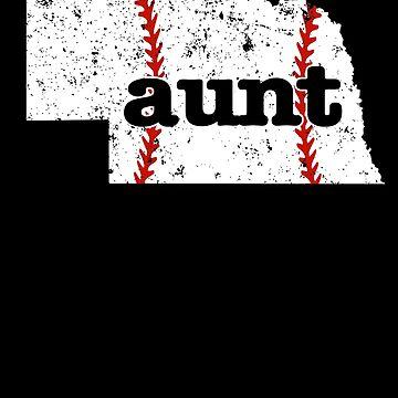 Aunt Baseball Shirt Nebraska Fastpitch Softball by shoppzee
