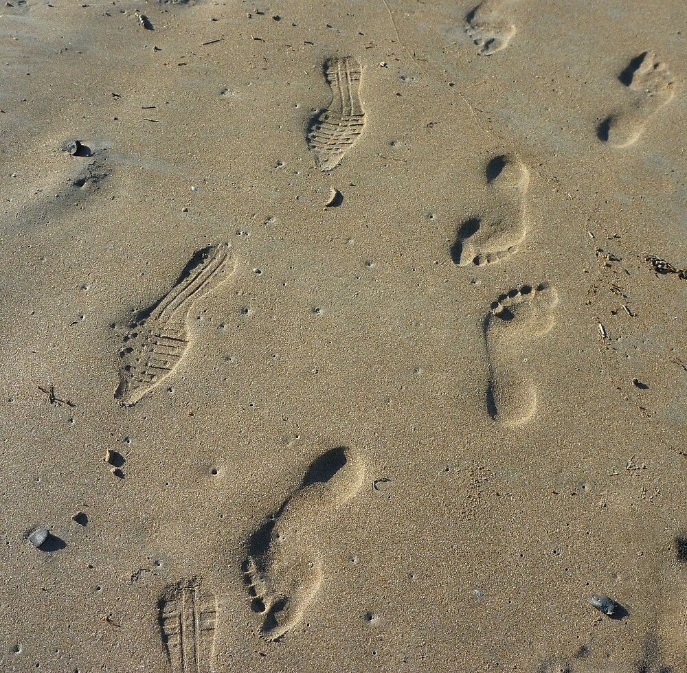 What stories could these footprints tell?  by PatHarrisson