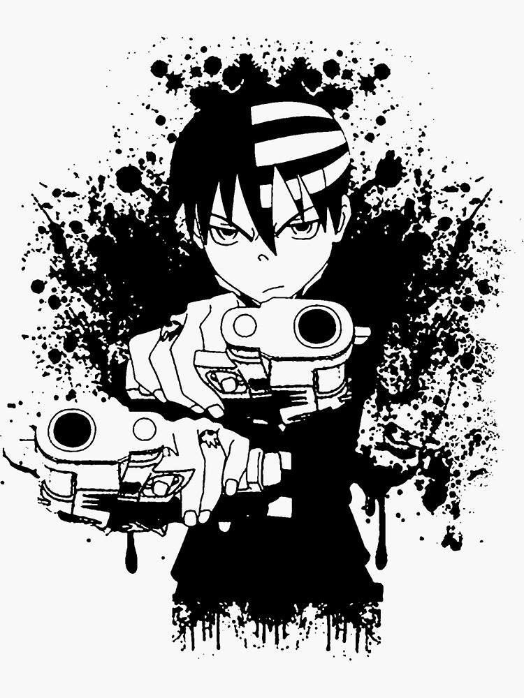 the kid soul eater sticker by shiron redbubble