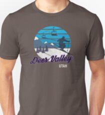 Deer Valley Park City Utah USA Ski Resort Snowboarding Winter Skiing Wear T-Shirts Hoodies Sweaters and Jumpers Unisex T-Shirt