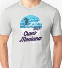 Crans-Montana Swiss Alps Switzerland Ski Resort Snowboarding Winter Skiing Wear T-Shirts Hoodies Sweaters and Jumpers Unisex T-Shirt