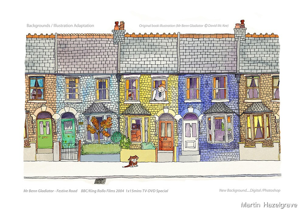 Mr Benn....Animation Backgrounds by Martin  Hazelgrave