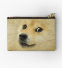 Doge meme dog style Kekistan Shiba Inu #DogRight doggo full face with fur Studio Pouch