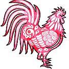 Watercolor Art | The Cockerel by coloringiship