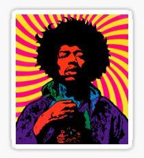 Psychedelic Hendrix Sticker