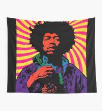 Tela decorativa Hendrix psicodélico